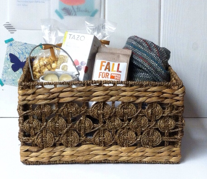Diy Fall Gift Basket Happily Dwell